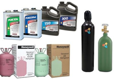 Refrigerant, Gas & Oils