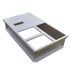 """Micrometl Roof Curb, 14"""" Tall, Knockdown, No Pitch, Insulated Deck Pan"""