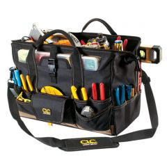 """CLC® 18"""" Tool Bag with Top-Side Plastic Parts Tray"""