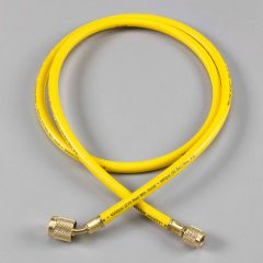 """Yellow Jacket® Plus II™ AC Yellow Hose, 60"""" Length, 1/4"""" with 45° SealRight™ Low Loss Anti-Blow Back Fitting"""