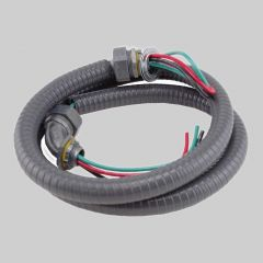 """1/2"""" Whip 6'  #10 THHN Wire - Metallic Connectors"""