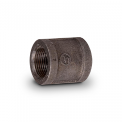 """Black Iron Pipe Coupling 1/2"""" FIP (cl150 - Sch40)"""