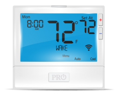 WIFI Residential/Light Commercial Up to 2 Heat, 2 Cool Conventional Up to 5 Heat, 3 Cool Heat Pump, Hardwire Only, 7 Day or Non-Programmable
