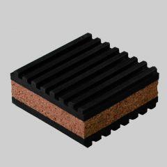 "Rubber/Cork Anti-Vibration Pad 2"" x 2"" x 7/8"""