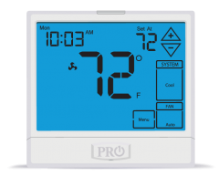 PRO1IAQ Digital Programmable Touchscreen Thermostat 3H/2C 7 Day 5/1/1