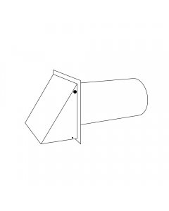 """8"""" Aluminum Wall Vent (with Damper)"""