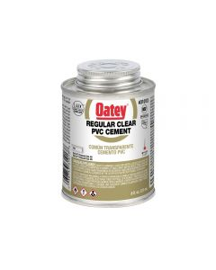 Oatey® Regular Clear PVC Cement with Cap Brush