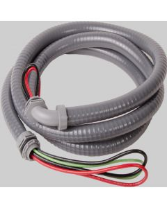 """3/4"""" Whip 8' #8 THHN Wire - Metallic Connectors"""
