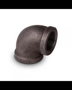 "Black Iron Pipe 90° Elbow 1/2"" FIP (cl150 - Sch40)"