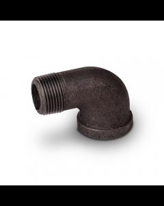 """Black Iron Pipe 90° Street Elbow 1/2"""" FIP x 1/2"""" MIP (cl150 - Sch40)"""