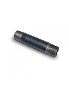 "Black Iron Pipe Nipple 1/2"" MIP x 3"" (Sch40)"