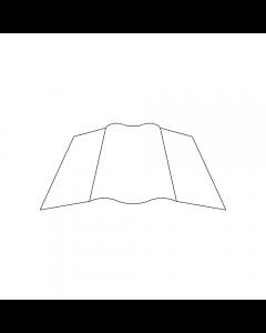 "Flexible Duct Connector 1-3/4"" Seam 3"" Vinyl (Glasseal) 100'"