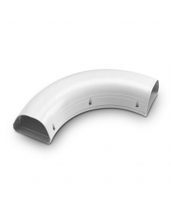 """Rectorseal® Line Set Cover Sweep 90° Elbow 4-1/2"""" (White)"""