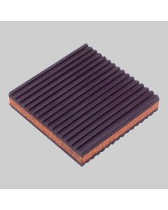 "Rubber/Cork Anti-Vibration Pad 4"" x 4"" x 7/8"""