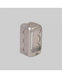 """Steel Utility Box Extension Ring 4"""" x 2-1/8"""" x 1-7/8"""" with 1/2"""" Knockouts"""