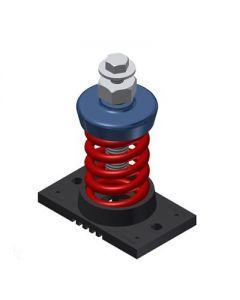 "Mason Industries 1"" Deflection Unhoused Single Spring Isolator, 200lb Rated Capacity"